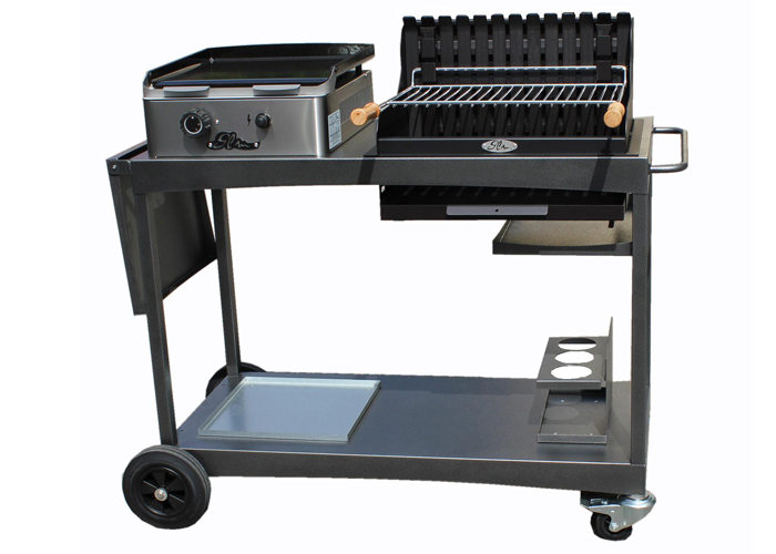 Mobilier ext rieur glm barbecue et planchas enderlin - Plancha pour barbecue charbon ...