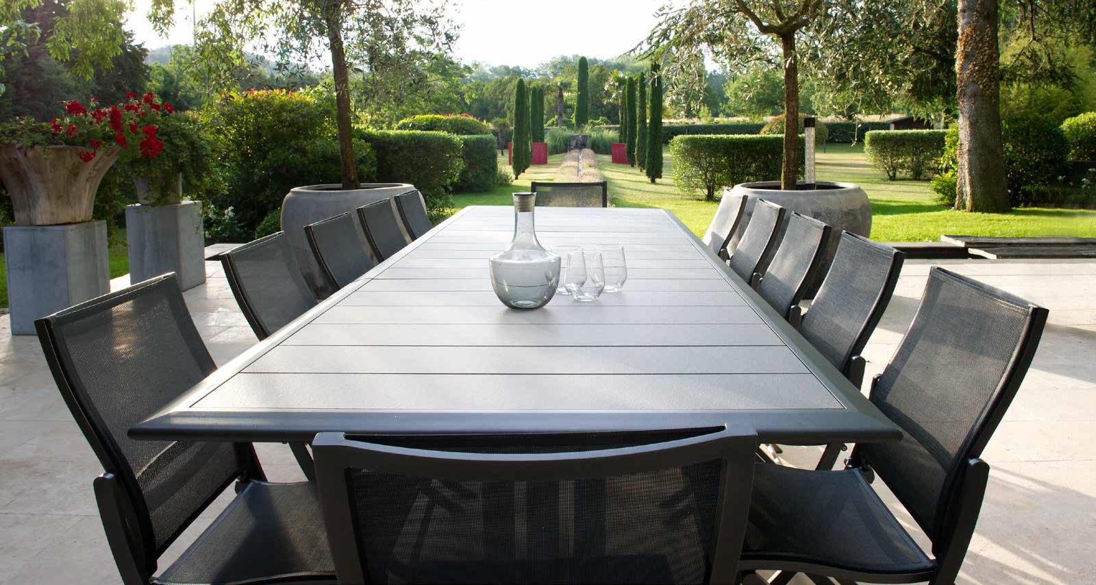 Mobilier Ext Rieur Les Jardins Enderlin Stores Et Receptions # Salon De Jardin Plateau Hpl