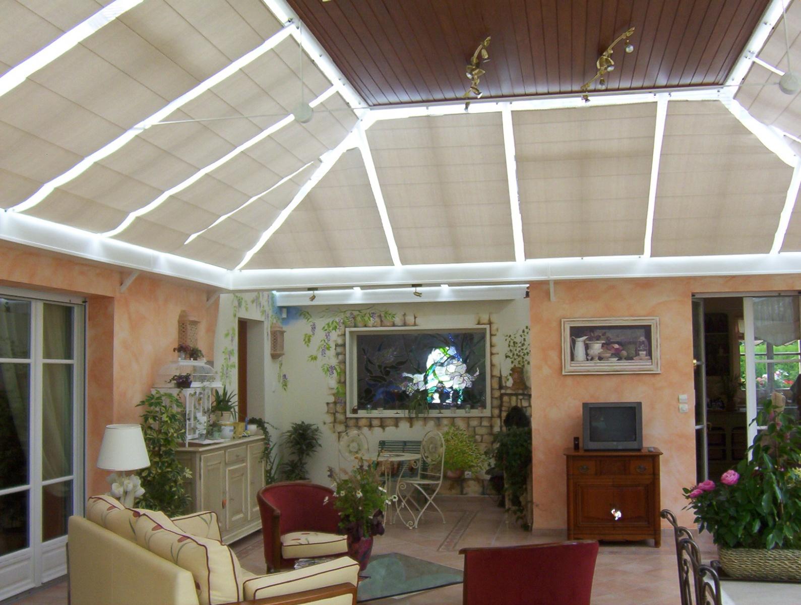 Stores intérieurs - Store pour véranda Reflex'Sol - ENDERLIN - STORES ET RECEPTIONS